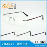 Het lichtgewicht Randloze Frame van de Glazen van Eyewear van het Oogglas van het Titanium Optische met Scharnier (5014)