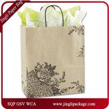 Sac à provisions de papier de tissu de sac de papier de vin de cuir de sac de cadeau de clients de Hydrangea de Rose