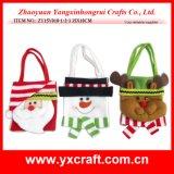 Fábrica China de la tela del bolso del caramelo de la Navidad de la decoración de la Navidad (ZY14Y476-1-2-3 los 28X17CM)
