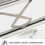 Il doppio ha lustrato la finestra della tenda/finestra di alluminio dell'oscillazione