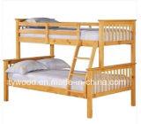 Fractionnements en bois solide de dormeur de triple de bâti de couchette dans 2 bâtis