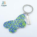 Mariposa coloreada esmalte suave diseñada arte Keychain del metal de Jiabo