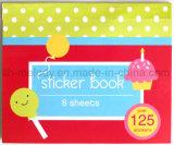 Livro decorativo bonito da etiqueta de papelão dos desenhos animados