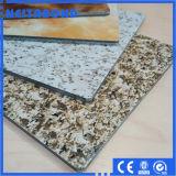 Il comitato di parete di Exterial PVDF rende incombustibile Alucobonds di marmo