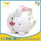 Подарок коробки сбережения деньг венчания Piggy крена монетки шаржа керамический