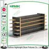 Il negozio accantona la mensola di visualizzazione d'acciaio del supermercato del metallo