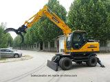 保定の機械装置のGrasperの新しく小さい車輪の掘削機