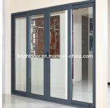 Puerta deslizante del aluminio estándar australiano de la doble vidriera/Windows&Doors de aluminio