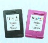Cartuchos de tinta pretos e coloridos remanufaturados para HP121 122
