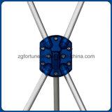 Soporte de visualización con la bandera del tubo X de la fibra del carbón (aluminio)
