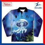 O Mens feito sob encomenda da equipe personalizado pescando camisas de Jersys desgasta ternos dos jogos