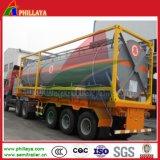 반 강철 유조선 화학 액체 HCl 산성 수송 탱크 트레일러