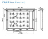 LED Street Light/Lamp Module Lens con 24 (AC4*6) LED di Seoul 4040 (35)