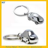 Entwurf Silber überzogenes Keychain der Fläche-3D