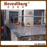 Balaustre de acero inoxidable bajo de pared con Cables de Acero (SJ-683)