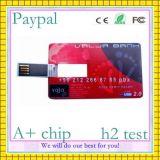 전용량 로고 인쇄 카드 모양 펜 드라이브 (gc 00567)