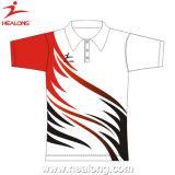 Camisa de Shirtst do polo dos polo da impressão da tela da boa qualidade