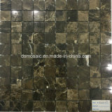 Темная плитка мозаики Brown мраморный (25*25mm)