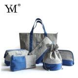 Ensemble cosmétique de sac de polyester chaud de la vente 2015
