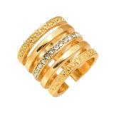 Monili di cristallo spalancati squisiti stabiliti di modo dell'anello dell'anello a più strati
