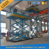Machine hydraulique d'ascenseur de ciseaux d'entrepôt de la CE pour la cargaison