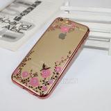 Cubierta de lujo del teléfono del diamante del jardín secreto TPU para el iPhone 6/6s