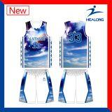 新しいデザイン安いカスタムメンズバスケットボールのワイシャツのベスト