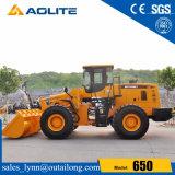Equipamento pesado 650, carregador articulado da roda, carregador da roda 5ton