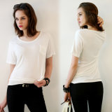 Katoenen van vrouwen T-shirt met Goede Kwaliteit