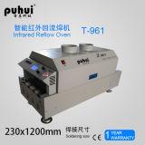 Forno líquido Puhui T-961 do Reflow do diodo emissor de luz SMT da transmissão e da transmissão da corrente