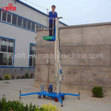 maquinaria de construcción móvil de la elevación del hombre de la aleación de aluminio de los 8m con el certificado del Ce