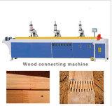 Approche d'ensemble de doigt en bois avec l'élément de fraisage/l'unité de collage/presse hydraulique