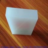 Bloc blanc d'étalage de logo de l'acrylique PMMA