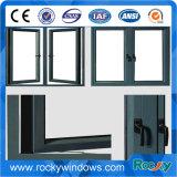 Fenêtre de battement en aluminium à isolation thermique et à isolation thermique