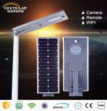 5W-120W 원격 제어 사진기 시스템을%s 가진 통합 LED 태양 센서 가로등