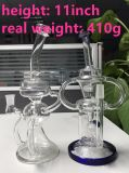 Honeycomb Klein Recycler Smoke Water Pipe par Maverick Glass