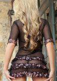 Lingerie sexy de chemise de nuit de dames de sensation douce