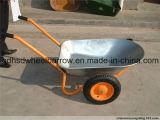 二重車輪の庭の手押し車(Wb6406)