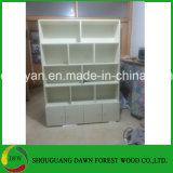 Bibliothèque blanche d'étagère de meubles de couleur de mélamine