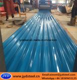 Strato d'acciaio ondulato del tetto di PPGI con la pellicola del PVC