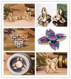 金属のハイブリッド陶磁器ベアリングを持つ真鍮のチタニウムのアルミ合金EDCの落着きのなさの紡績工
