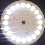 Luz de acampamento do jardim da montagem solar da parte superior da luz de pólo 20LED da bandeira