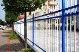 上塗を施してある錬鉄の電流を通された防御フェンス