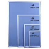 A0 magro de alumínio, A1, A2, A3, frame de alumínio do poster A4