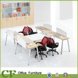 Самомоднейшее конструированное эргономическое рабочее место офиса персоны MDF 4 рекламы с перегородкой