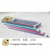 HB di Pencils del triangolo con Stripe Paiting, Wooden Pencils (3614)