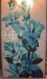 美しい花のモザイク装飾のタイル