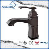 Singolo rubinetto del dispersore della stanza da bagno della maniglia dell'oro Polished della Rosa (AF1601-6)
