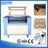 Máquina de estaca de madeira da letra do CNC do CO2 pequeno de Lm6040e