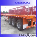 Twee of Drie de 40ft Flatbed Aanhangwagen van de Container/de Aanhangwagen van het Vervoer van de Container